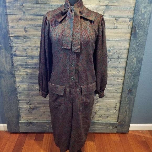 Givenchy Dresses & Skirts - Vintage Givenchy 70s Paisley Secretary Dress